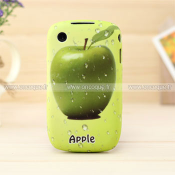 Coque blackberry curve 8520 fruits apple silicone housse for Housse blackberry curve