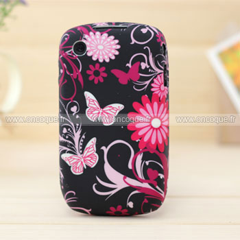 Coque blackberry curve 8520 papillon silicone gel housse for Housse blackberry curve 9300