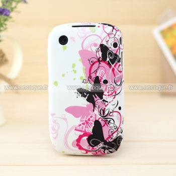 Coque blackberry curve 8520 papillon silicone housse gel for Housse blackberry curve