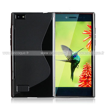 Coque blackberry leap s line silicone gel housse noire for Housse blackberry curve