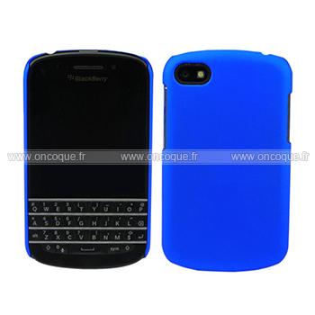 coque blackberry q10 plastique etui rigide bleu. Black Bedroom Furniture Sets. Home Design Ideas