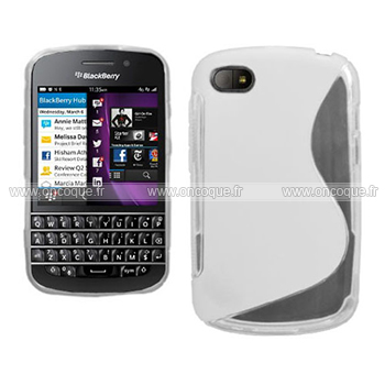 Coque blackberry q10 s line silicone gel housse blanche for Housse blackberry curve