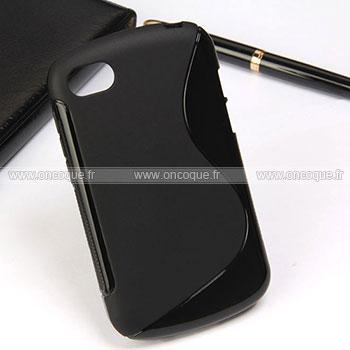 Coque blackberry q10 s line silicone gel housse noire for Housse blackberry
