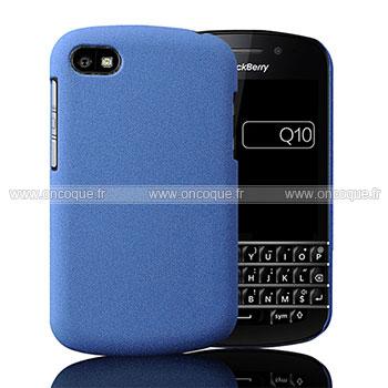 coque blackberry q10 sables mouvants etui rigide bleu. Black Bedroom Furniture Sets. Home Design Ideas