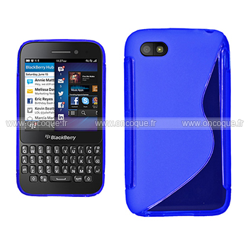 Coque blackberry q5 s line silicone gel housse bleu for Housse blackberry curve