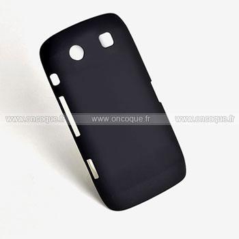 coque blackberry torch 9850 9860 plastique etui rigide noire. Black Bedroom Furniture Sets. Home Design Ideas
