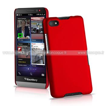 coque blackberry z30 plastique etui rigide rouge. Black Bedroom Furniture Sets. Home Design Ideas