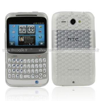 Coque HTC Chacha G16 A810e Diamant TPU Gel Housse - Claire