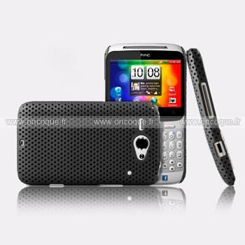 Coque HTC Chacha G16 A810e Filet Plastique Etui Rigide - Noire