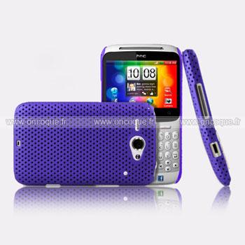 Coque HTC Chacha G16 A810e Filet Plastique Etui Rigide - Pourpre