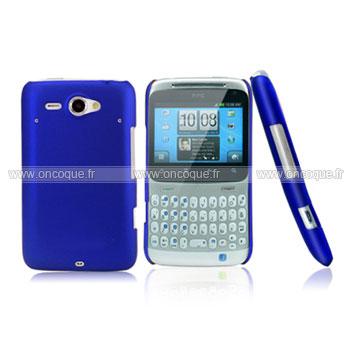 Coque HTC Chacha G16 A810e Plastique Etui Rigide - Bleu