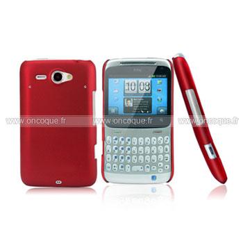 Coque HTC Chacha G16 A810e Plastique Etui Rigide - Rouge