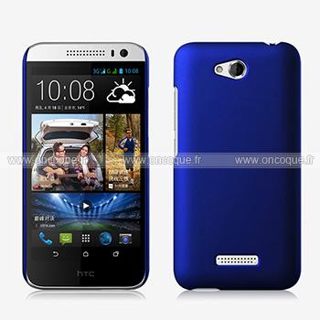 Coque HTC Desire 616 Plastique Etui Rigide - Bleu