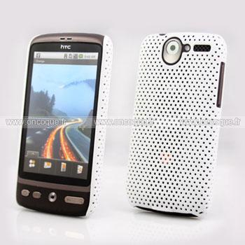 Coque HTC Desire Bravo G7 A8181 Filet Plastique Etui Rigide - Blanche