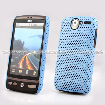 Coque HTC Desire Bravo G7 A8181 Filet Plastique Etui Rigide - Bleu