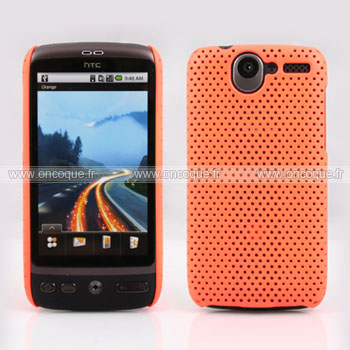 Coque HTC Desire Bravo G7 A8181 Filet Plastique Etui Rigide - Orange