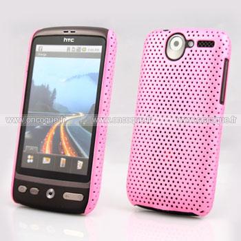 Coque HTC Desire Bravo G7 A8181 Filet Plastique Etui Rigide - Rose