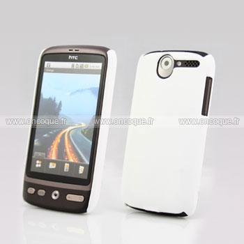 Coque HTC Desire Bravo G7 A8181 Plastique Etui Rigide - Blanche