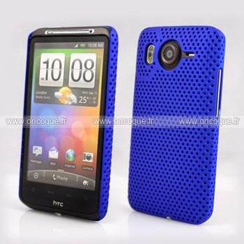 Coque HTC Desire HD G10 A9191 Filet Plastique Etui Rigide - Bleu