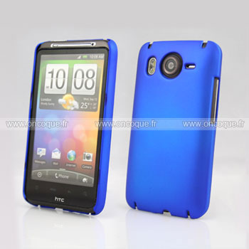 Coque HTC Desire HD G10 A9191 Plastique Etui Rigide - Bleu