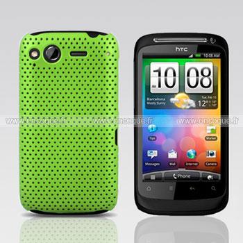 Coque HTC Desire S G12 S510e Filet Plastique Etui Rigide - Verte