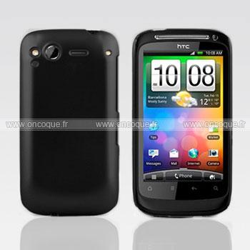 Coque HTC Desire S G12 S510e Plastique Etui Rigide - Noire