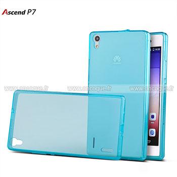 coque huawei ascend p7 silicone transparent housse bleu