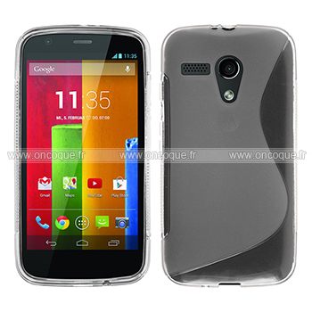 coque motorola moto g s line silicone gel housse clear