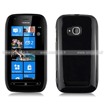 Coque nokia lumia 710 silicone gel housse noire for Housse blackberry q10