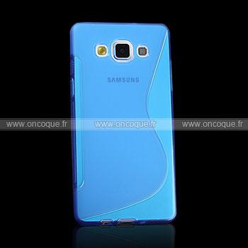 coque samsung galaxy a5 s line silicone gel housse bleu. Black Bedroom Furniture Sets. Home Design Ideas