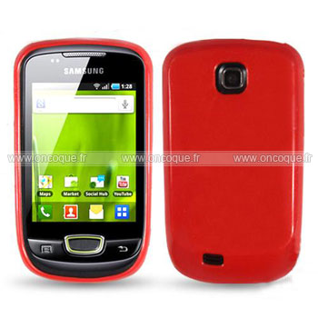 Coque samsung galaxy mini s5570 silicone gel housse rouge for Housse blackberry q10