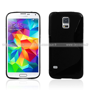 Coque samsung galaxy s5 i9600 s line silicone gel housse for Housse samsung s5