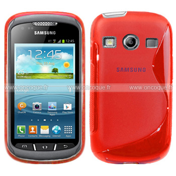 wholesale dealer a2fb6 14408 Coque Samsung Galaxy Xcover 2 S7710 S-Line Silicone Gel Housse - Rouge