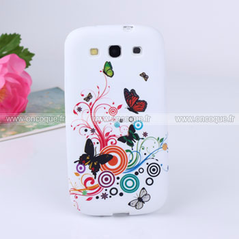 Coque samsung i9300 galaxy s3 papillon silicone housse gel for Housse samsung s3