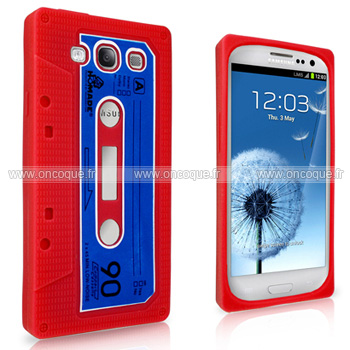 Coque samsung i9305 galaxy s3 4g cassette bande silicone for Housse samsung s3