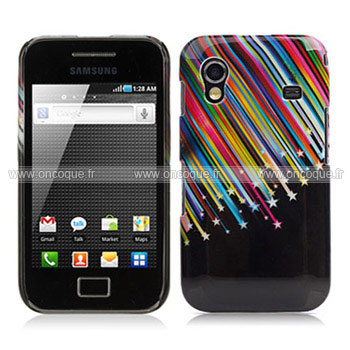 coque samsung s5830 galaxy ace stars plastique etui rigide. Black Bedroom Furniture Sets. Home Design Ideas