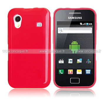 coque samsung s5839i galaxy ace silicone gel housse rouge. Black Bedroom Furniture Sets. Home Design Ideas