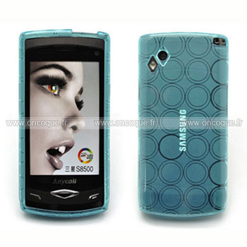Coque samsung s8500 wave cercle gel tpu housse bleu for Housse samsung wave