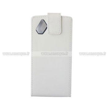 Coque samsung s8500 wave etui en cuir housse blanche for Housse samsung wave