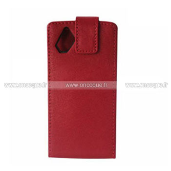 Coque samsung s8500 wave etui en cuir housse rouge for Housse samsung wave