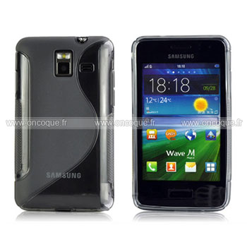 Coque samsung wave m s7250 s line silicone gel housse gris for Housse samsung wave