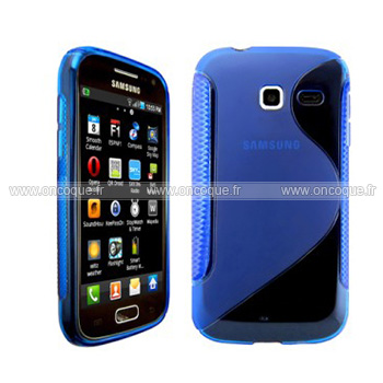 Coque samsung wave y s5380 s line silicone gel housse bleu for Housse samsung wave