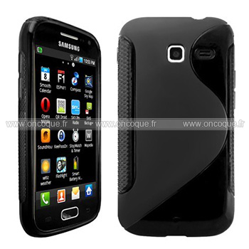 Coque samsung wave y s5380 s line silicone gel housse noire for Housse samsung wave