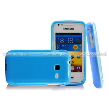 Coque samsung wave y s5380 silicone gel housse bleue ciel for Housse samsung wave 2