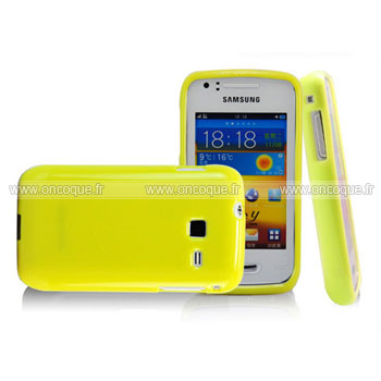 Coque samsung wave y s5380 silicone gel housse jaune for Housse samsung wave