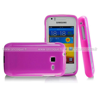 Coque samsung wave y s5380 silicone gel housse pourpre for Housse samsung wave