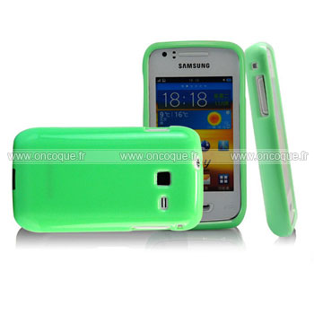 Coque samsung wave y s5380 silicone gel housse verte for Housse samsung wave