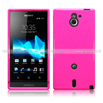 Coque Sony Xperia Sola MT27i Silicone Gel Housse - Rose Chaud