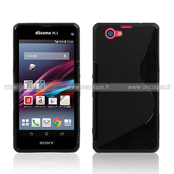 coque sony xperia z1 compact mini s line silicone gel housse noire. Black Bedroom Furniture Sets. Home Design Ideas