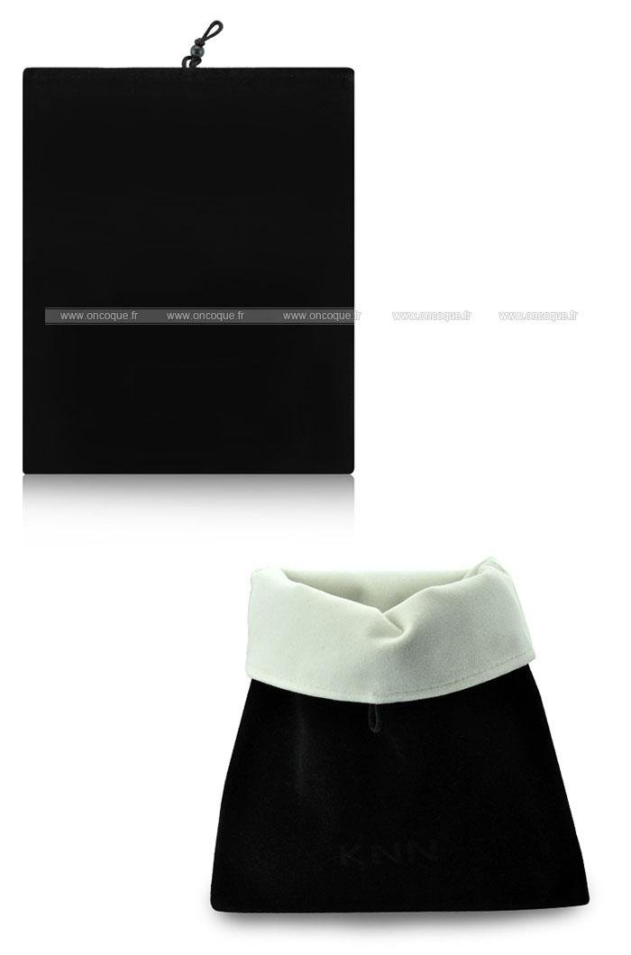 coque apple ipad 4 housse pochette tissu noire. Black Bedroom Furniture Sets. Home Design Ideas